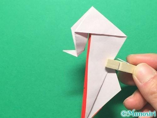 折り紙で祝い鶴の折り方手順44