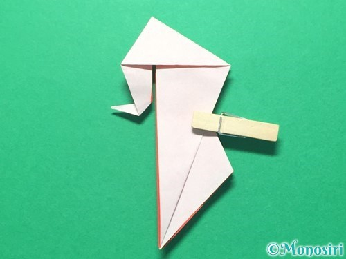 折り紙で祝い鶴の折り方手順45