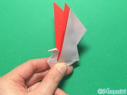 折り紙で祝い鶴の折り方手順46