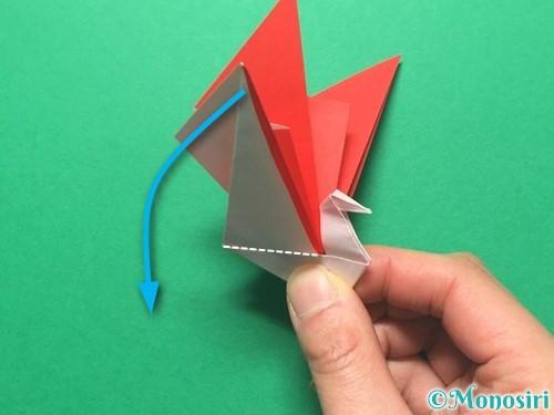 折り紙で祝い鶴の折り方手順49