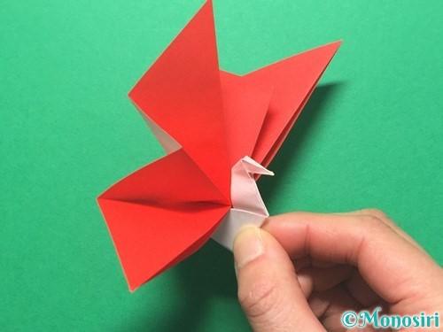 折り紙で祝い鶴の折り方手順50