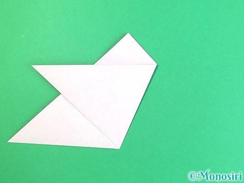 折り紙で立体的なハイビスカスの折り方手順11