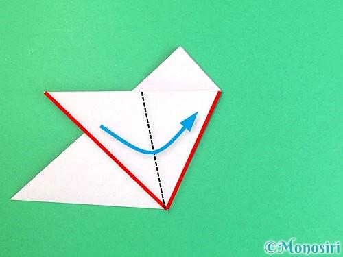 折り紙で立体的なハイビスカスの折り方手順12