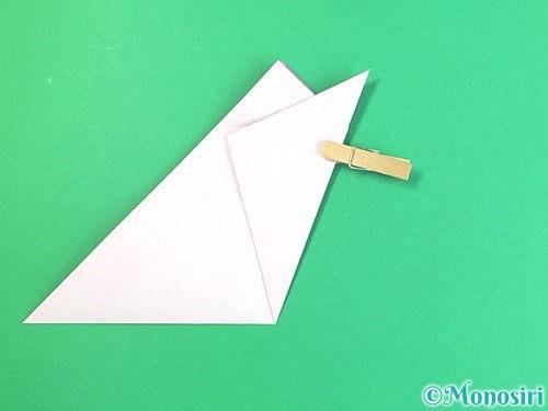 折り紙で立体的なハイビスカスの折り方手順13