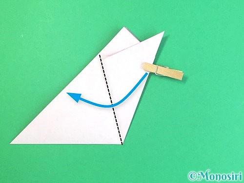 折り紙で立体的なハイビスカスの折り方手順14