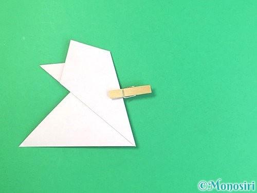 折り紙で立体的なハイビスカスの折り方手順15