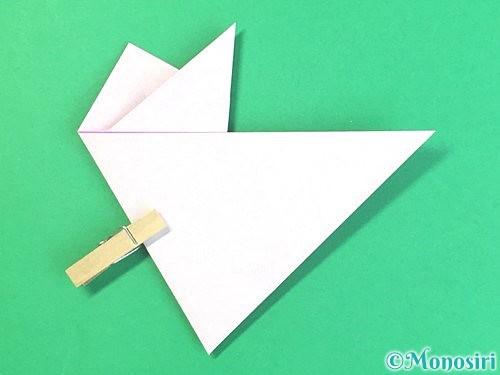 折り紙で立体的なハイビスカスの折り方手順16