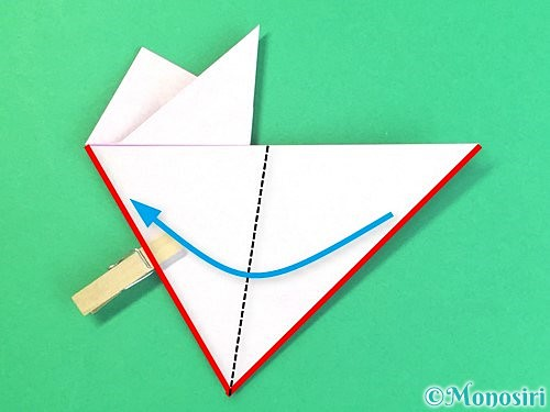 折り紙で立体的なハイビスカスの折り方手順17