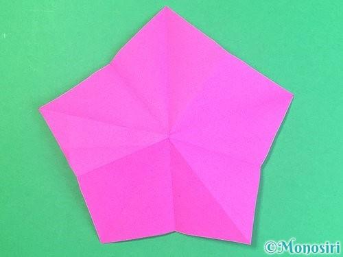 折り紙で立体的なハイビスカスの折り方手順21