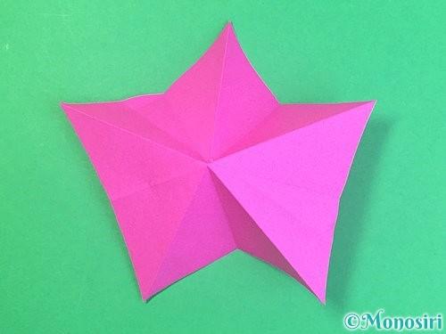 折り紙で立体的なハイビスカスの折り方手順23