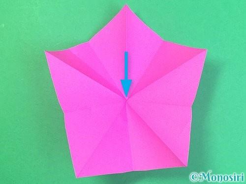 折り紙で立体的なハイビスカスの折り方手順24