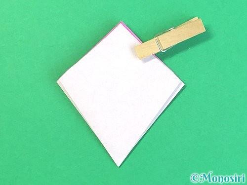 折り紙で立体的なハイビスカスの折り方手順26
