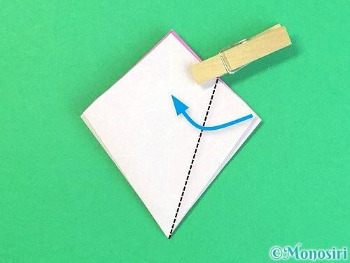 折り紙で立体的なハイビスカスの折り方手順27