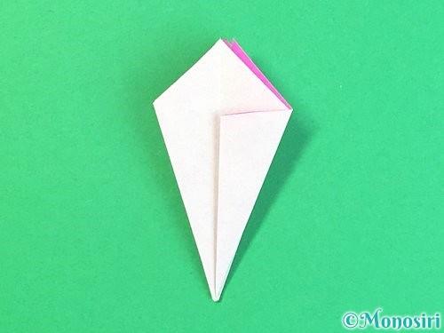 折り紙で立体的なハイビスカスの折り方手順29