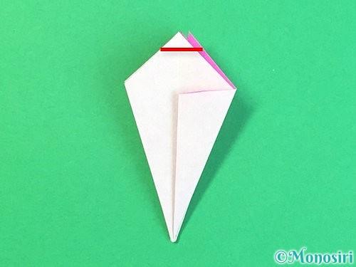折り紙で立体的なハイビスカスの折り方手順30