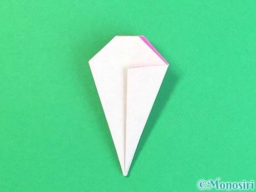 折り紙で立体的なハイビスカスの折り方手順31