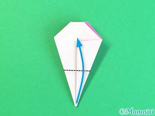 折り紙で立体的なハイビスカスの折り方手順32