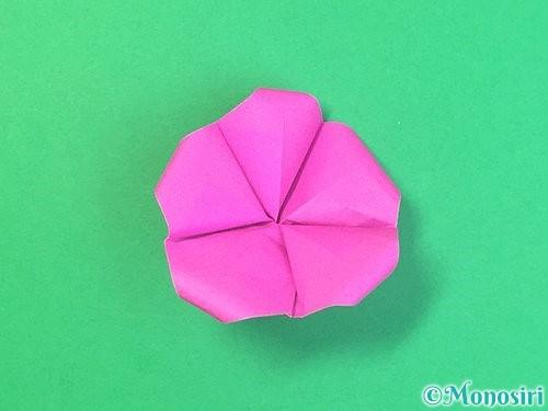 折り紙で立体的なハイビスカスの折り方手順44