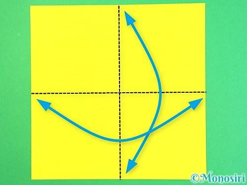 折り紙で立体的なハイビスカスの折り方手順45