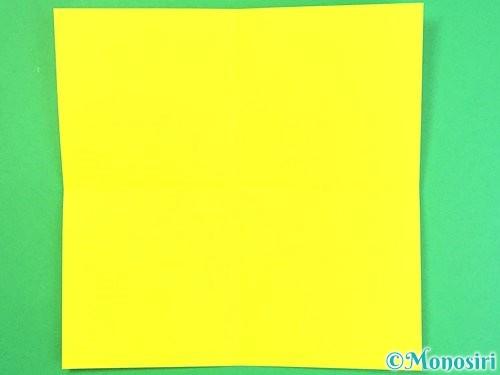 折り紙で立体的なハイビスカスの折り方手順46