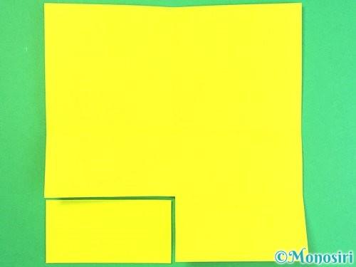 折り紙で立体的なハイビスカスの折り方手順49