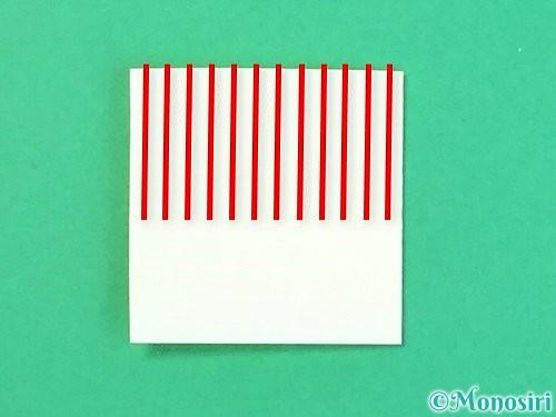 折り紙で立体的なハイビスカスの折り方手順52