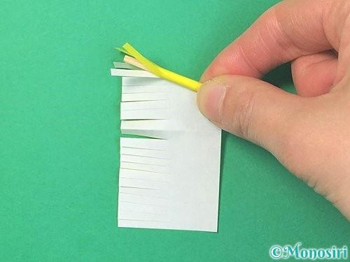折り紙で立体的なハイビスカスの折り方手順55