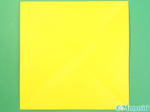 折り紙で椿の折り方手順2