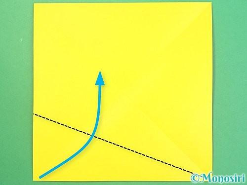 折り紙で椿の折り方手順3