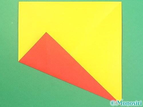 折り紙で椿の折り方手順4