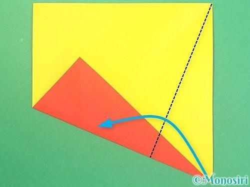 折り紙で椿の折り方手順5
