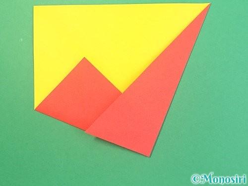 折り紙で椿の折り方手順6