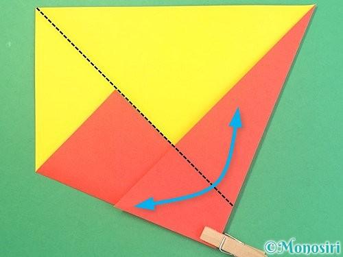折り紙で椿の折り方手順7