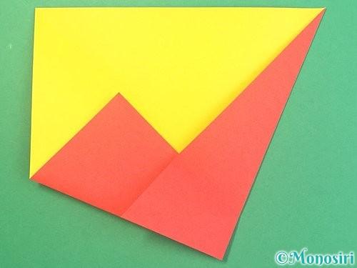 折り紙で椿の折り方手順8