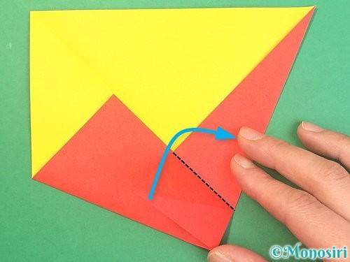 折り紙で椿の折り方手順9