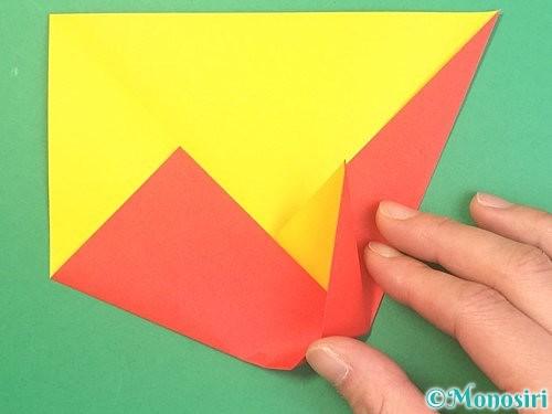折り紙で椿の折り方手順10