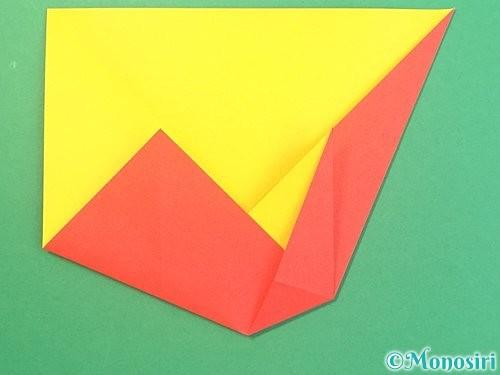 折り紙で椿の折り方手順11