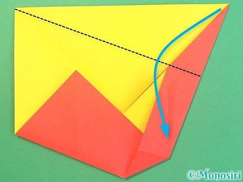 折り紙で椿の折り方手順12