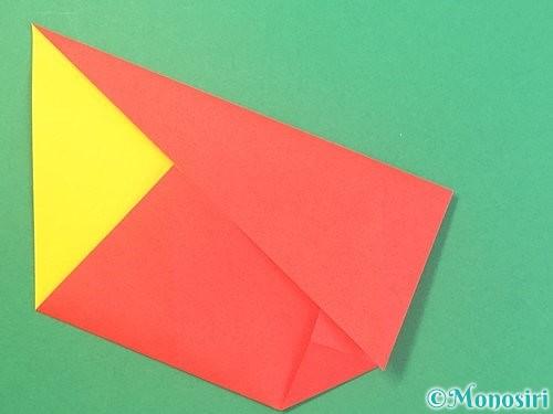 折り紙で椿の折り方手順13