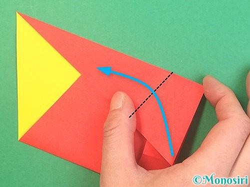 折り紙で椿の折り方手順14