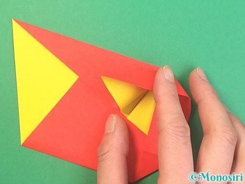折り紙で椿の折り方手順15