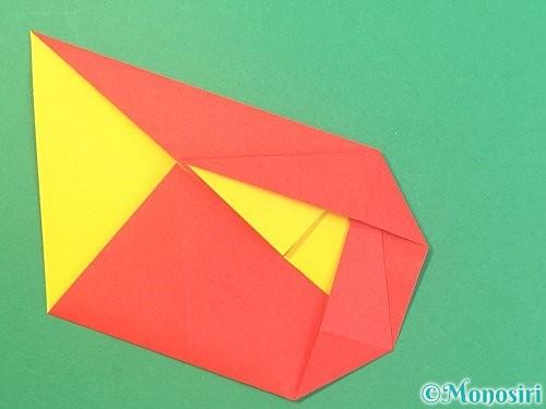 折り紙で椿の折り方手順17