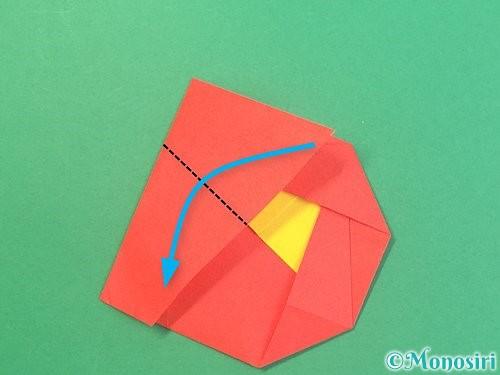 折り紙で椿の折り方手順20