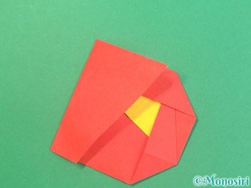 折り紙で椿の折り方手順19