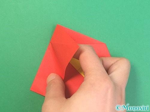 折り紙で椿の折り方手順21
