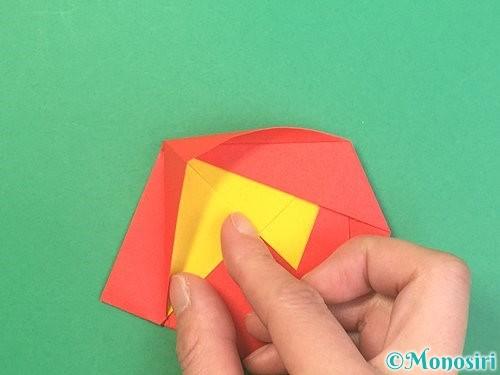 折り紙で椿の折り方手順22