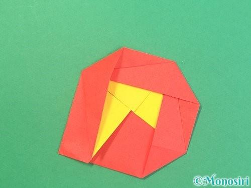 折り紙で椿の折り方手順23