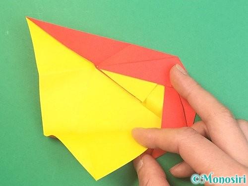 折り紙で椿の折り方手順24