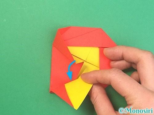 折り紙で椿の折り方手順27