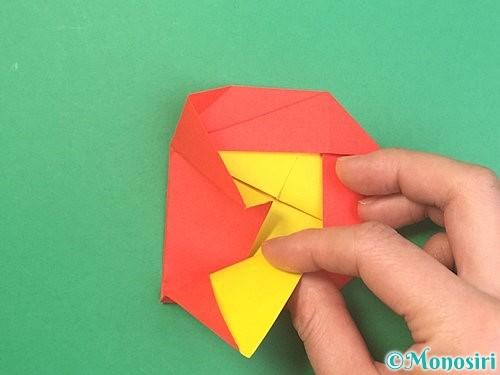 折り紙で椿の折り方手順26